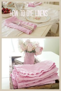 How to dye linens to match your decor