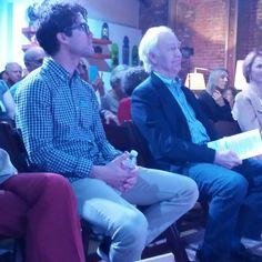 @DarrenCriss and Robert Pine (Chris Pine's dad) at WordTheatre's Bausch Bros.event.