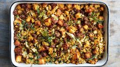 The cornbread in this sausage and fennel dressing can be made weeks in advance.