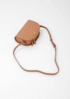 Tan A.P.C. Half Moon Bag  Minimalist woman bag | Minimalist handbag | Minimalist purse | Capsule wardrobe | Slow fashion | Simple style