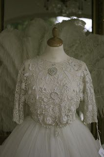 Antique Irish Crochet Lace Bodice A Shown With Antique Lace Wedding Belt. Please Email For All Prices Antique I...