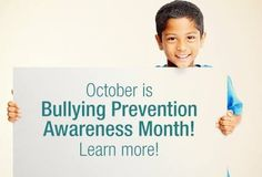 October is National Stop Bullying month, find out how you can put an end to bullying and #BeOnThePreventionSide http://1.usa.gov/1BA215W