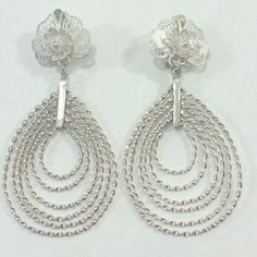 """Selling this """"Vintage sterling silver earrings"""" in my Poshmark closet! My username is: divine777. #shopmycloset #poshmark #fashion #shopping #style #forsale #Jewelry"""