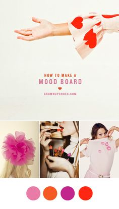 How to Make a Mood Board | Grown-up Shoes | redecorating a room, planning a party, styling a blog, building new wardrobe