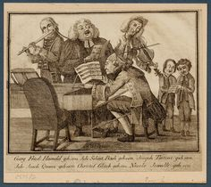 Handel, Bach, Tartini, Quantz, Gluck and Jommelli. Dayton C. Miller Musical Iconography Collection