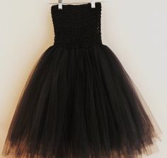 Large Black Tutu Dress and Matching Headband by APocketfulofBows, $49.99