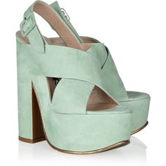 Rochas Textured-leather platform sandals ($595) ❤ liked on Polyvore featuring shoes, sandals, heels, zapatos, strappy high heel sandals, block heel slingback, strap sandals, platform sandals and platform heel sandals