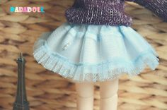 Bjd Girl Sweetie Lace Skirt for 1/6 yosd 1/4 msd1/3 by PABADoll