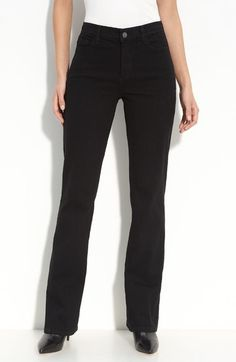 Free shipping and returns on NYDJ 'Barbara' Stretch Bootcut Jeans (Black) (Regular & Petite) at Nordstrom.com. Black stretch denim with tonal stitching lends sleekness to modern bootcut jeans. Exclusive lift-tuck technology helps flatten the tummy and lift the rear.