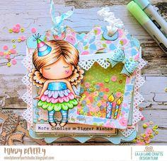 Mindy Beverly Art Studio: La-La Land Crafts Paper Doll Marci Birthday