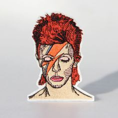 David Bowie Patch by mimosch. mimosch patches are a fun and simple way to personalise your t-shirts, jackets, hats, jeans, canvas bags, & canvas sneakers and much more!
