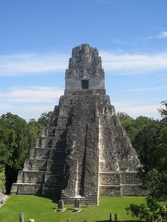 Grand Jaguar Pyramid at Tikal mayan ruins, Guatemala -Backpack through South America and get student discounts http://studentrate.com/Travel-Discounts