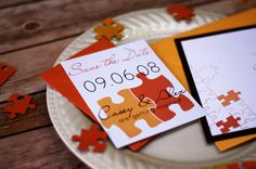 Puzzle Piece Wedding Save the Date