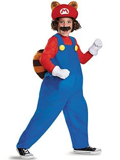 Mario Raccoon Deluxe Super Mario Bros Nintendo Costume Small46 *** Continue to the product at the image link. #DressUpandPretendPlay