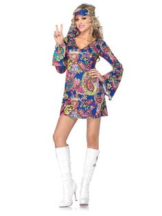 Check out Sexy Harmony Hippie Costume - Wholesale 60s Adult Costumes from Wholesale Halloween Costumes