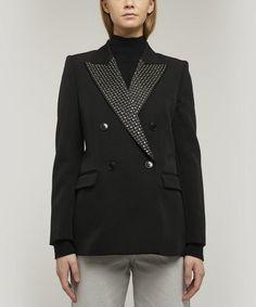 Isabel Marant Paryam Double-breasted Crystal-embellished Wool Blazer In Black Tweed Jacket, Bomber Jacket, Suit Jacket, Canvas Jacket, Power Dressing, Double Breasted Blazer, Plaid Blazer, Tailored Trousers, Black Blazers