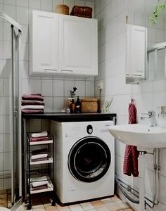 маленькая ванная  стиральная машина