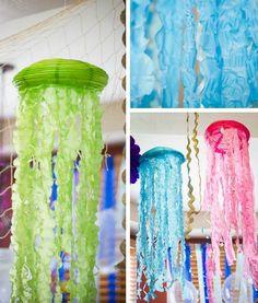 DIY Medusas con globos de papel.   Manualidades                                                                                                                                                                                 Más
