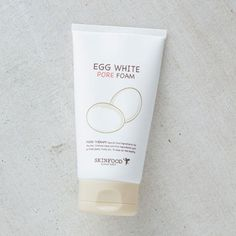 Step 2: Water-based Cleanser  SKINFOOD Egg White Pore Foam