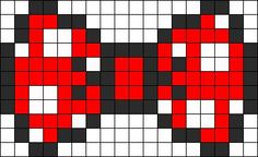 Minnie Mouse Bow perler bead pattern: