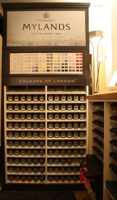 Our Mylands of London paint stand. All paint colour sample pots in stock. #mylands #yorkshire