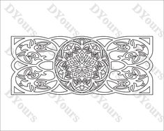 Geometric Floral Patterned Wall Art Vector Model svg dxf
