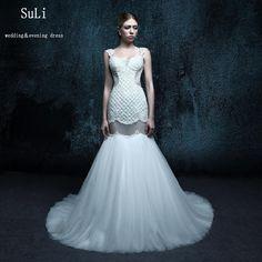 ZXB26 Vestido De Noiva 2016 Lace Wedding Dress Open Back Elegant Mermaid Wedding Dresses 2015 Bridal Gown Vestido De Casamento