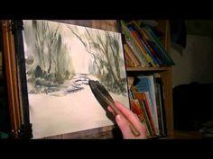 Dartmoor River Watercolour Painting Demonstration
