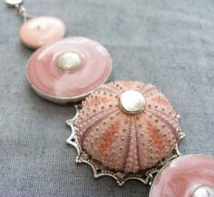 Sea Urchin Collection  Special Pink Enamel by StaroftheEast