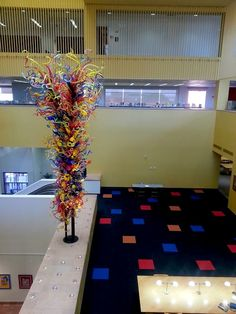 """Nice piece about """"20 Things You Didn't Know You Could Do at Your San Antonio Public Library"""" -- Shown: """"This sculpture ['Fiesta Tower'] commemorates our 100th anniversary as a library system. Dale Chihuly's studio has completed more than 100 public installations around the world. Courtesy photo."""""""