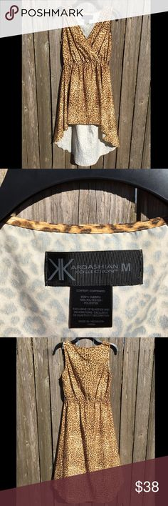 WOMENS KardashianKollectionCheetah Print dress Gently used good condition  No known flaws Dresses