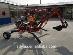 China manufacture cheaper small ATV towable self power case backhoe for sale
