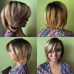 medium layered bob for thick hair
