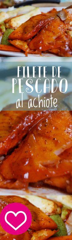 Filete de pescado al achiote, una semilla que le dá un sabor único a tus platillos, aprende como hacerlo con mi video paso a paso ;)
