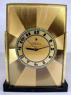 RARE VINTAGE ART DECO TELECHRON MODERNIQUE CLOCK DESIGNED BY PAUL FRANKL