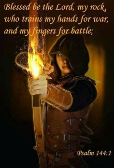 Blessed be the Lord, my rock, who trains my hands for war, and my fingers for battle. Spiritual Warfare Prayers, Spiritual Quotes, Warrior Quotes, Prayer Warrior, Christian Warrior, Prophetic Art, Armor Of God, Warrior Princess, Gods Princess