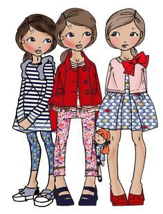 girl kids fashion illustration - Google Search
