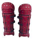 LAD1626 - Samurai Leather Bracers - Red - $151.95