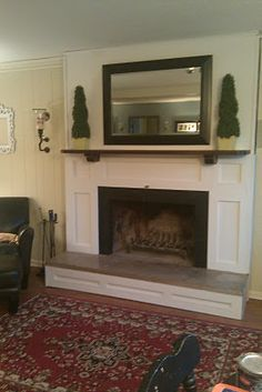 Annoying Little Bug: $75 D.I.Y fireplace makeover