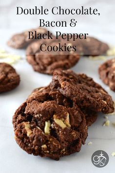 Double Chocolate, Bacon and Black Pepper Cookies | Giramuk's Kitchen