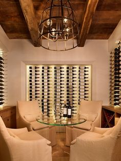 Style And Design Your Individual Enterprise Playing Cards In The Home Wine Tasting Room. Home Wine Cellars, Wine Cellar Design, Wine Cellar Modern, Wine Tasting Room, Wine Display, Bottle Display, Wine Wall, In Vino Veritas, Wine Storage