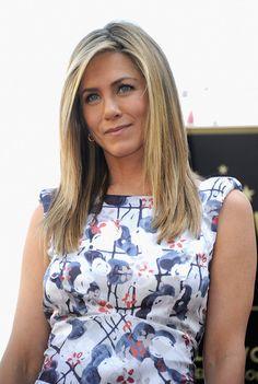 Jennifer Aniston Long Straight Cut - Long Straight Cut Lookbook - StyleBistro