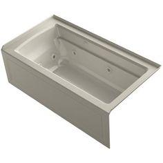 """Kohler Archer 60"""" x 32"""" Air / Whirlpool Bathtub Finish:"""