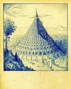 The Tower of Babel by Paul Gosselin Ancient Mysteries, Ancient Ruins, Wild Bull, Ancient World History, Epic Of Gilgamesh, Tower Of Babel, Historical Monuments, Cultural, Archetypes
