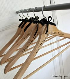 DIY Personalized Wood Hangers - Driven by Decor
