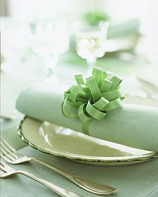 Satin Bow Napkin Rings. How-To by Martha Stewart, just follow the link