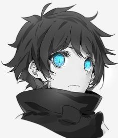 Imagen vía We Heart It #blackandwhite #blueeyes #manga #sketch #bishounen #animeboy #leonardowatch #kekkaisensen #cozyquilt(artist)