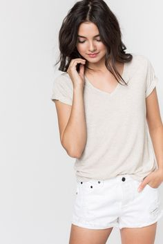SPADE V NECK TEE - Sincerely Jules (XS)