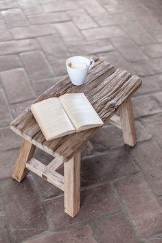 Woodlight old oak stool Photo: by Patrycja Guz