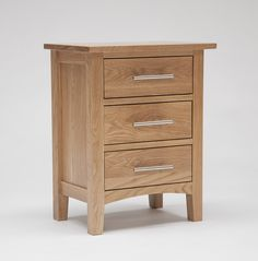 Hereford Oak 3 Drawer Bedside - Hereford Oak is an extensive and versatile range crafted from oak sourced from eco-friendly hardwood forests. This light oak range is carefully constructed using traditional artisan methods of craftsmanship which ensures each piece has a robust structure and style which is designed to last. Featuring a wide spectrum of carefully selected pieces for dining, living home, office and bedroom, this solid oak range is certain to blend with many interior settings..